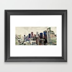 Space City Framed Art Print