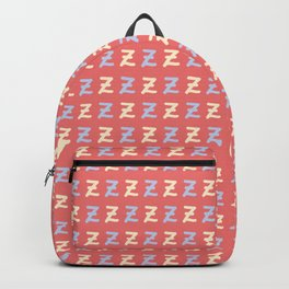 Small Lettering Z Pattern Backpack