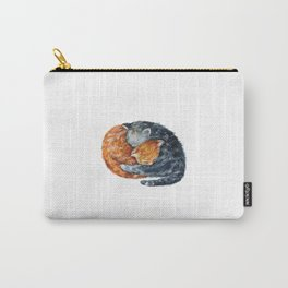 Cat, Animal Art, Little Cat Print, Animal, Two Cats Art, Orange And Blue Cat, Little Kitten, Kitten Carry-All Pouch