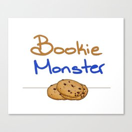 Bookie Monster 2 Canvas Print