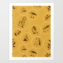 Cozy Baubles #society6 #xmas Art Print