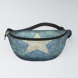 Flag of Somalia - Grungy version Fanny Pack