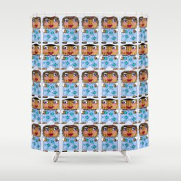 Matzo Boy and Matzo Girl together for Hanukkah! Shower Curtain