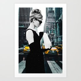 """Photo Montage """"Audrey in The City"""" Art Print"""