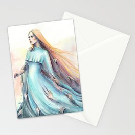 """Imperial Waves"" Watercolour Surrealism Pressure Stationery Cards"
