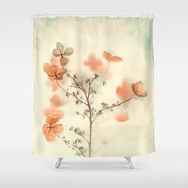 Flowers and fog Shower Curtain
