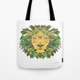 Geomatic Lion  Tote Bag