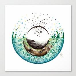 Blue-Green Eye Canvas Print