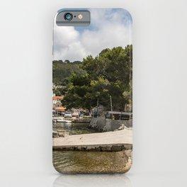Photos Croatia Mljet Island Coast Marinas Cities Building Pier Berth Houses iPhone Case