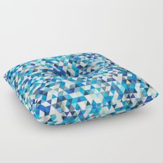 Icy triangles Floor Pillow