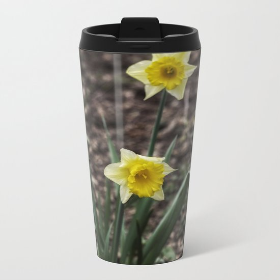 Spring Daffodil Metal Travel Mug