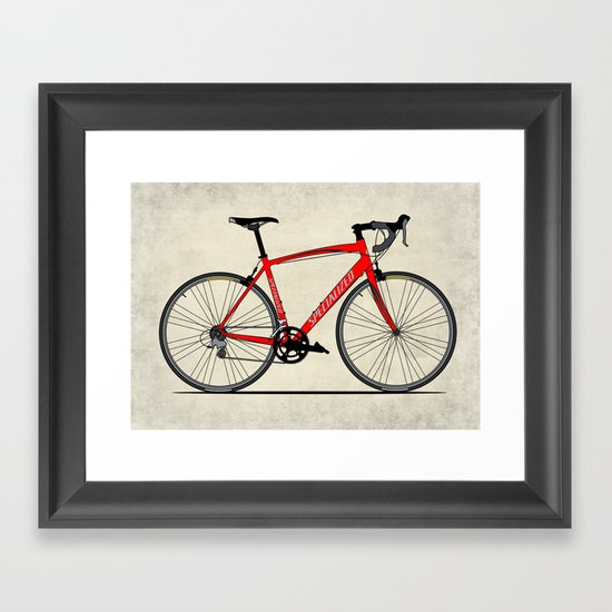Specialized Racing Road Bike Framed Art Print