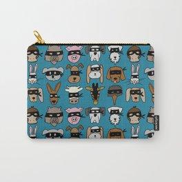 Ninja Animal Gang - Blue Carry-All Pouch