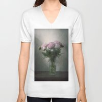 peonies V-neck T-shirts featuring Peonies by Pauline Fowler ( Polly470 )