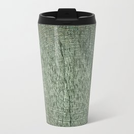 Brown and Green Wood Texture Travel Mug