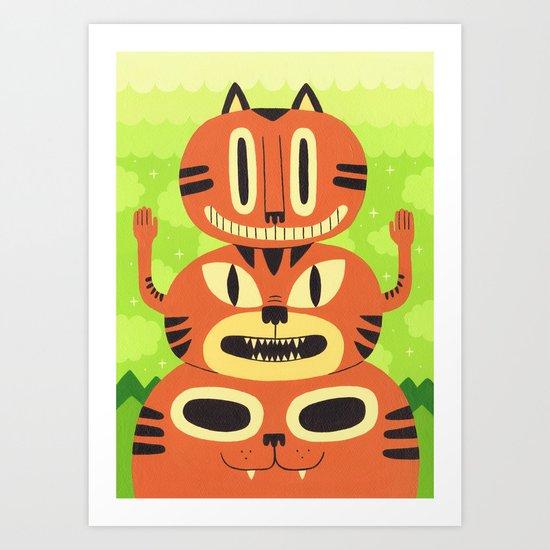 Totem Cat Art Print