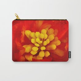 Red flower with yellow Carry-All Pouch