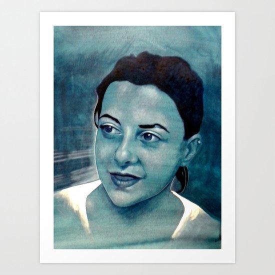 Girl protrait Art Print