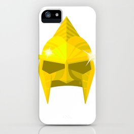 Immortals Helmet Flat minimalist Poster iPhone Case