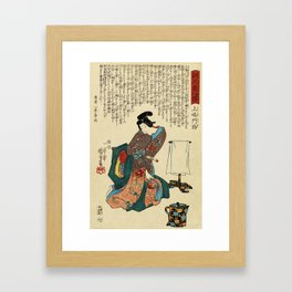 Utagawa Kunisada - Ueshima Monya Framed Art Print