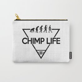 Chimp Life (Black) Carry-All Pouch