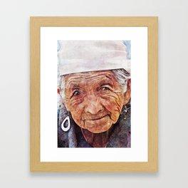 'Old Woman' Framed Art Print