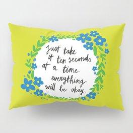Ten Seconds - Lime Pillow Sham