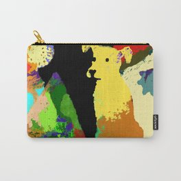 Dog with Abstract Background Carry-All Pouch