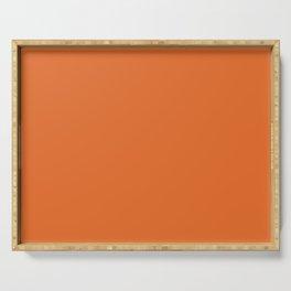 Solid Bright Halloween Orange Color Serving Tray