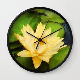 Nelumbo Lutea  Wall Clock
