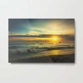 Pacific Coast Sunset Metal Print