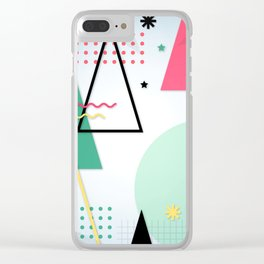 Abstract Christmas Clear iPhone Case