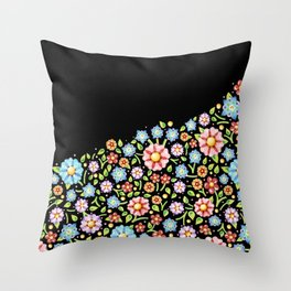 Millefiori Floral Horizon Throw Pillow