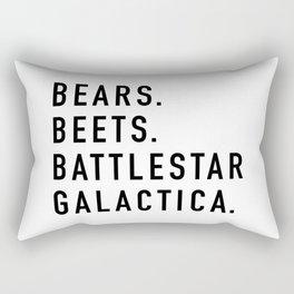 Bears Beets Battlestar Rectangular Pillow