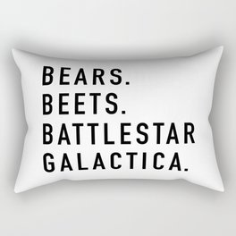 Bears Beets Battlestar Rectangular Pillow