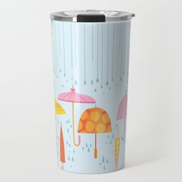 Pretty Parasols for Precipitation LineUp Travel Mug