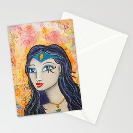 Diana - Gold Lotus Oracle Series Stationery Cards