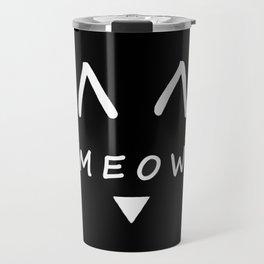 Meow Black Cat Travel Mug