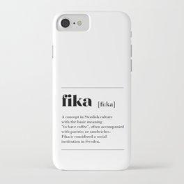 Fika swedish coffe break tradition iPhone Case