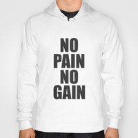 fitness Hoodies featuring Lab No. 4 - Fitness Motivation Inspirational Gym Quotes Poster by Lab No. 4