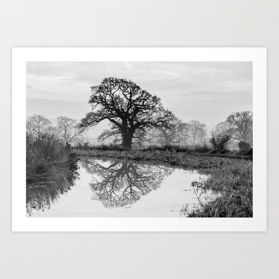 Reflection in the Bend Art Print