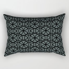 Circle Heaven Illustration, Overlapping Ring Design Night Watch (PPGs Color of the Year 2019) Rectangular Pillow