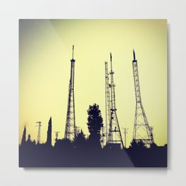 radio station aerials combat Metal Print