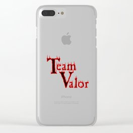 Team Valor Clear iPhone Case