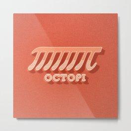 Octopi (PI) / Funny Nerd & Geek Humor (retro style) Metal Print