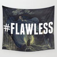 flawless Wall Tapestries featuring FLAWLESS by Saturos