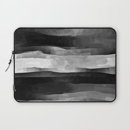Glowing Smoky Abstract - Black and White Laptop Sleeve
