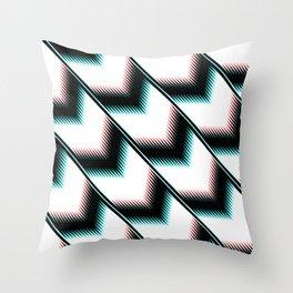 Black and white modern pattern Throw Pillow