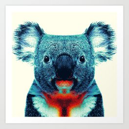 Koala - Colorful Animals Art Print