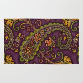 Floral Paisley Pattern 06 Rug